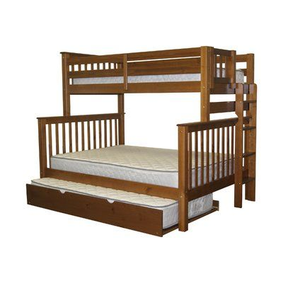 Harriet Bee Treva Twin Over Full Standard Bed With Trundle Frame Color