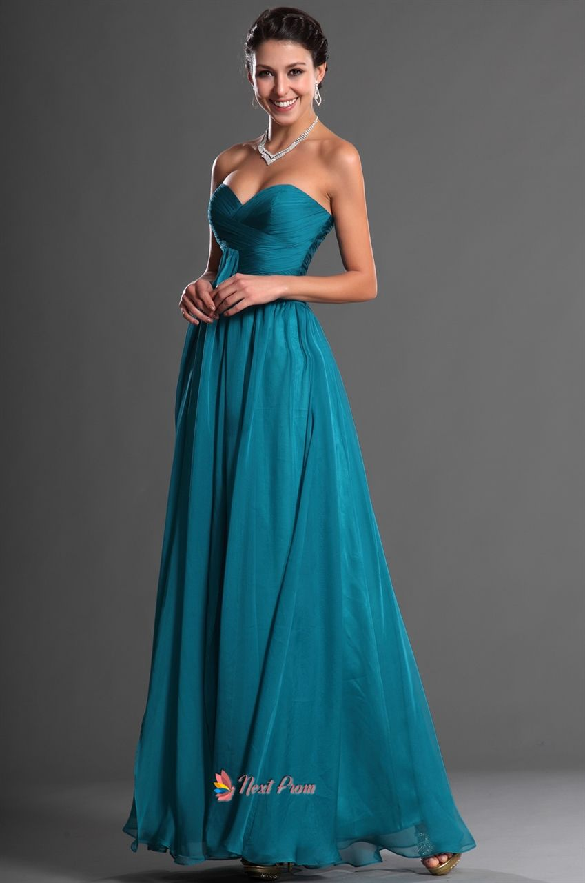Dark Teal Chiffon Bridesmaid Dresses,Teal Bridesmaid Dresses Cheap ...