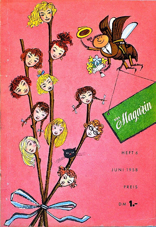 Обложки немецкого журнала Das Magazin 1958 года