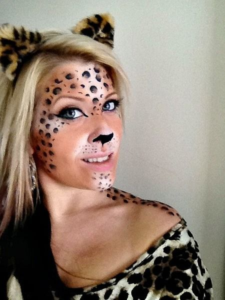 halloween leopard makeup the crazy sexy. Black Bedroom Furniture Sets. Home Design Ideas