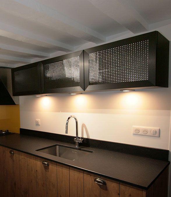 Meuble Haut Cadre Acier Verre Arme Home Home Decor Kitchen Appliances