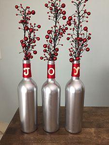 DIY Wine Bottle Christmas Craft Tutorial
