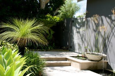 Connell's Point Garden by My Verandah - Entry/ Waterfeature/ travertine