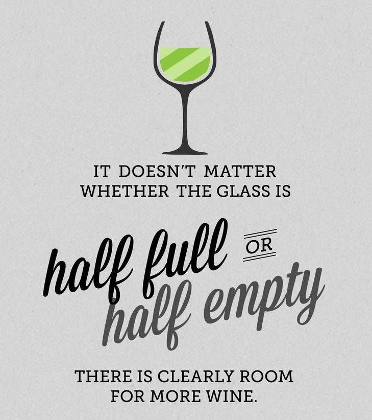 Quotes It Doesnt Matter Whether The Glass Is Half Full Or Half