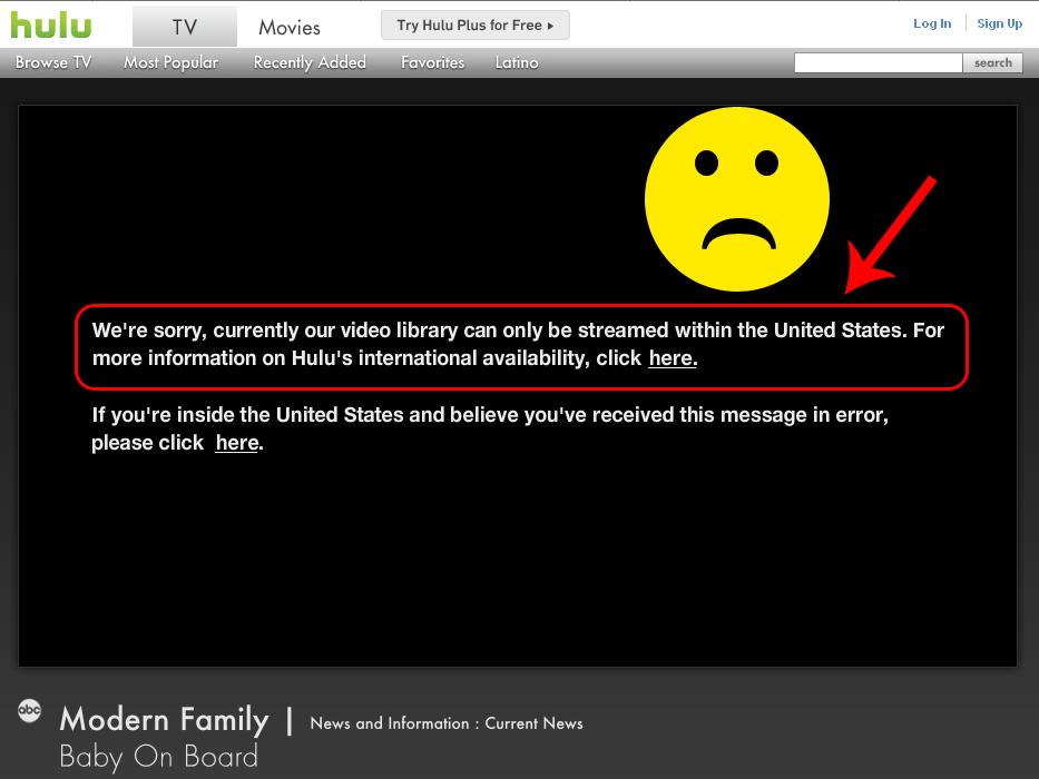 Picture Showing You Can't Get Hulu in Canada Hulu, Video