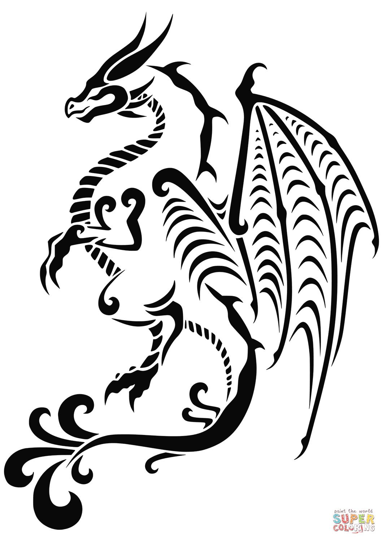 Pin By Sammi On Welsh Dragon Tattoo Tribal Dragon Tattoos Dragon Tattoo Dragon Tattoo Colour [ 1500 x 1061 Pixel ]