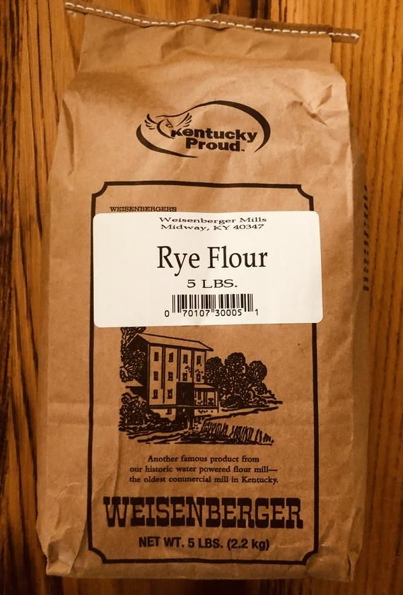 Weisenberger's RYE Flour All Natural Rye Flour by Kentucky's Finest. Rye flour is used for breads, and uses yeast for the leavening agent. Because of its low protein, it is rarely used alone, but requires the use of a white bread flour added. 5lb. Bag$18.29