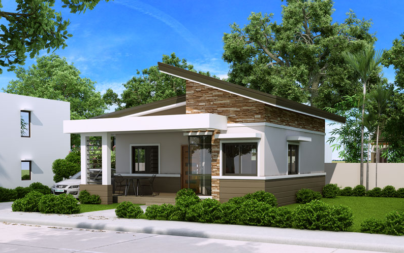 Single Story Small House Plan Floor Area 60 Square Meters
