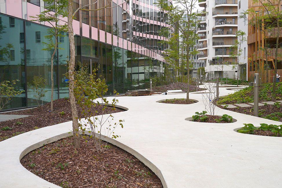 Jardin du c ur d lot b4 boulogne billancourt france by tn landscape architects - Jardin d eveil boulogne billancourt ...