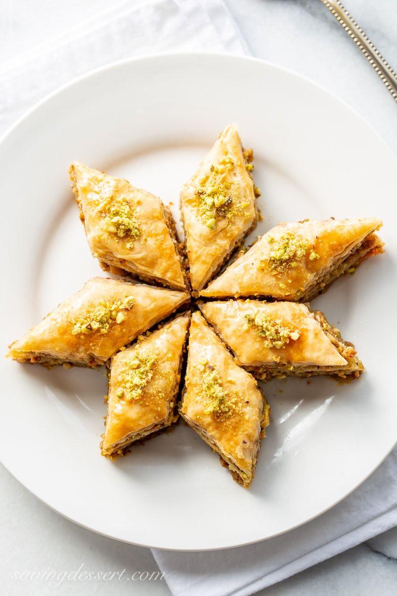 Honey Baklava Recipe With Walnuts And Pistachios Recipe Honey Baklava Recipe Baklava Recipe Baklava