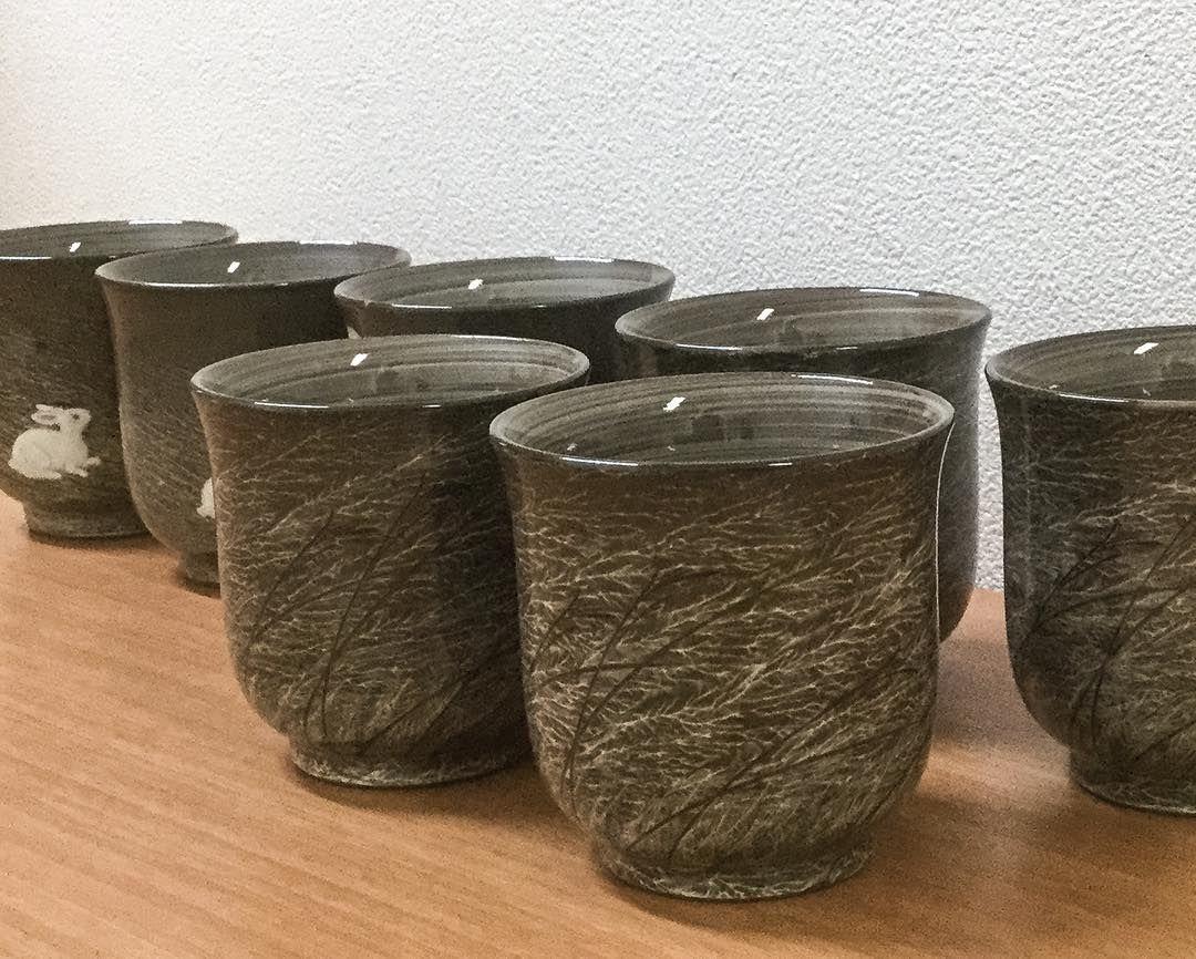 Utsutsugawa pottery yunomi cup from Gagyu kiln #pottery #japanesepottery  #ceramics #japaneseceramics  #tea #teacup #yunomi #greentea #wabisabi #instatea