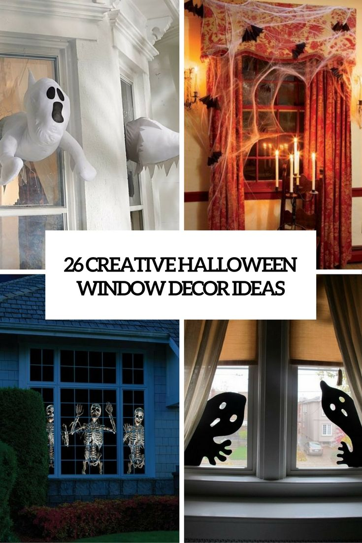 Window decor for halloween   creative halloween window decor ideas cover  holidays halloween