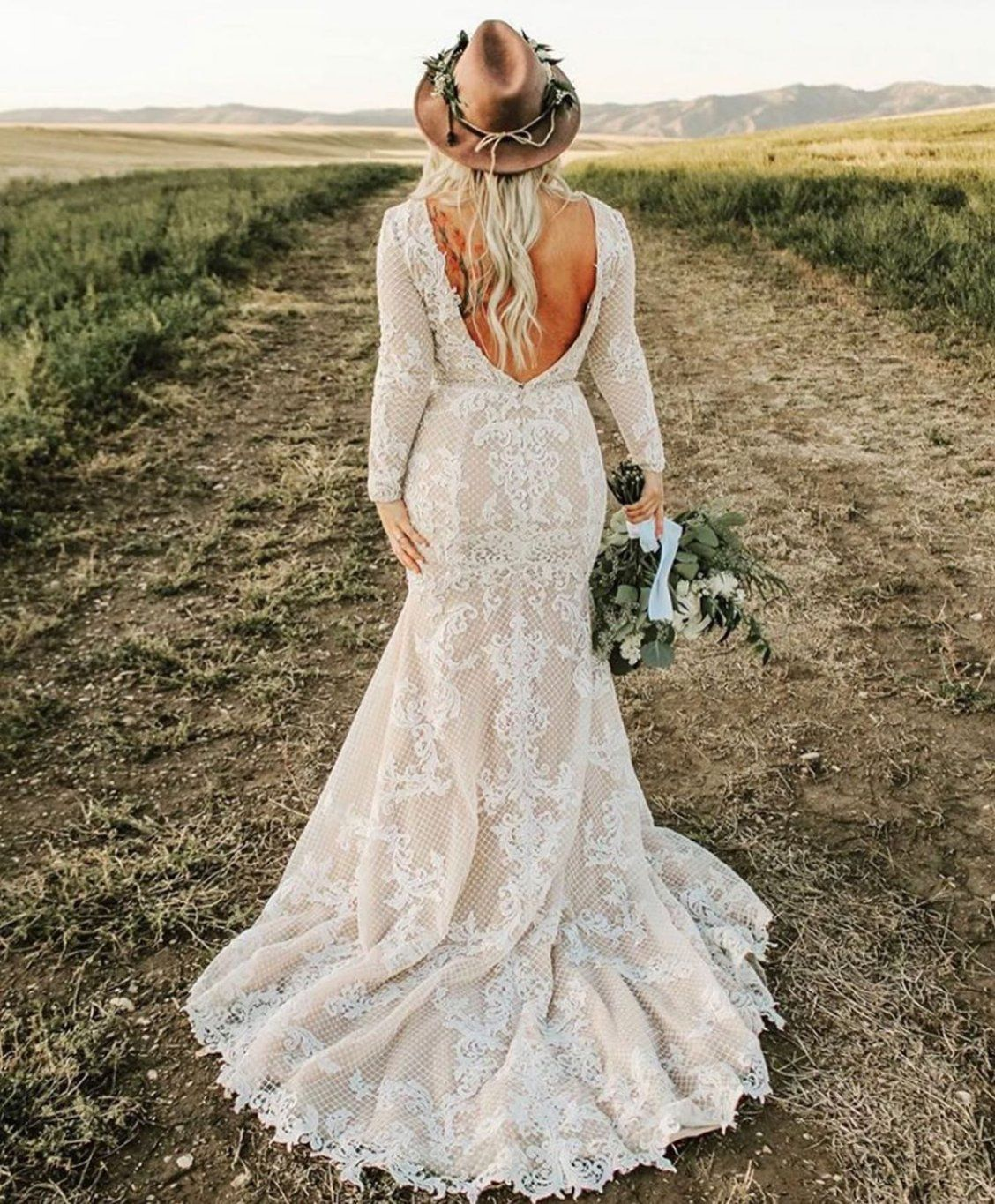 Deirdre By Maggie Sottero Wedding Dresses And Accessories Rustic Wedding Dress Lace Lace Wedding Dress Country Wedding Dress Long Sleeve [ 3328 x 1477 Pixel ]