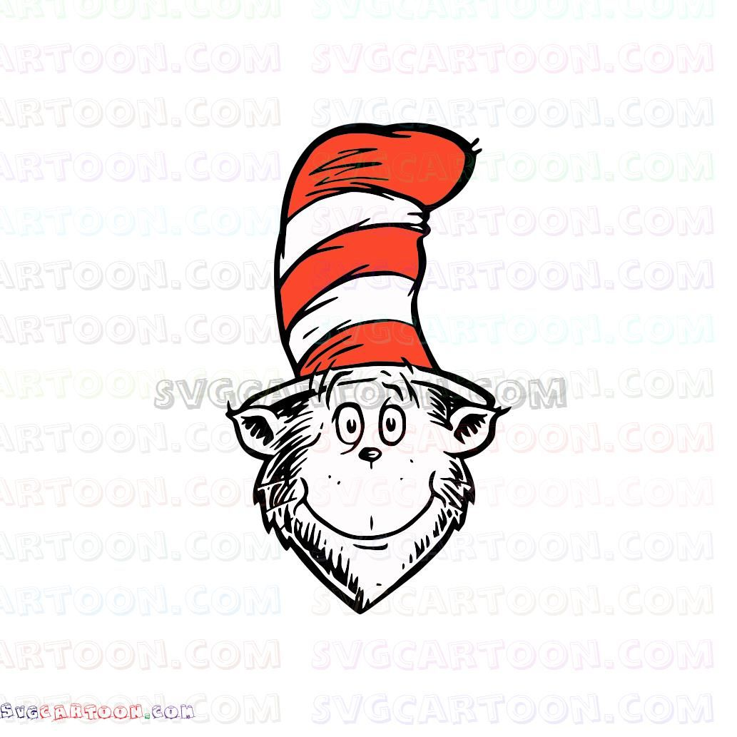 Cat In The Hat Svg Dr Seuss Svg File Dr Seuss Svg Files Cat In The Hat Svg For Silhouette Svg For Cricut Iron Dr Seuss Images Dr Seuss Day Dr Seuss