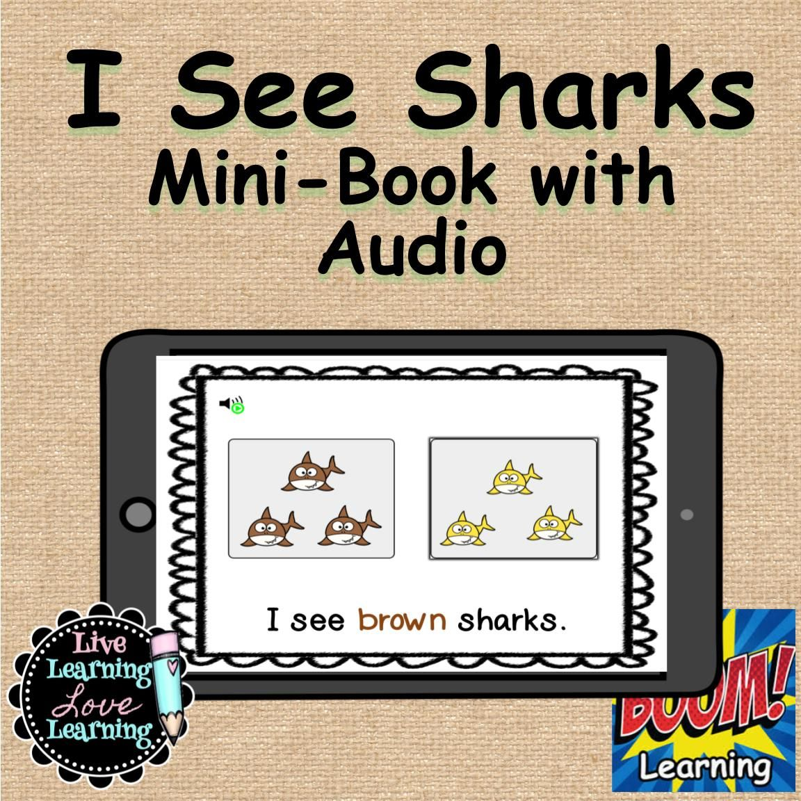 I See Sharks Mini Book With Audio Boom Learning In
