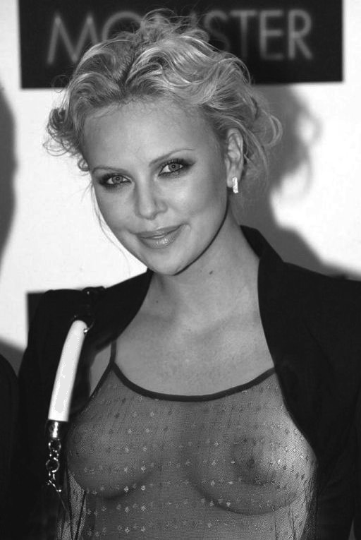 and charlize Busty real