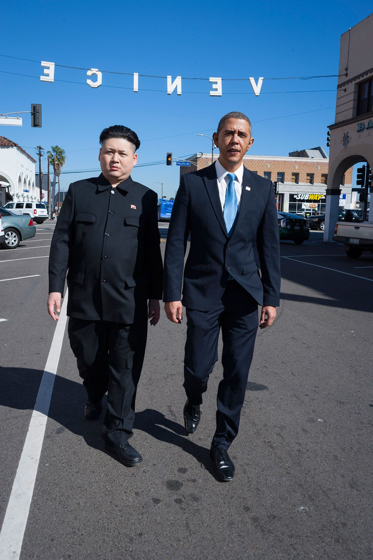 Barack Obama And Kim Jong Un Impersonators Take On La