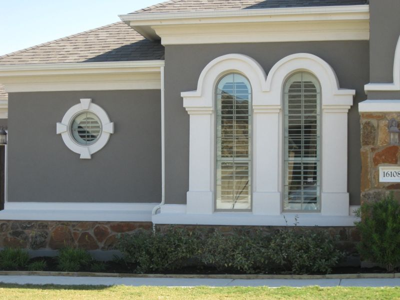 Love This Crisp White Trim Against The Dark Body Stucco