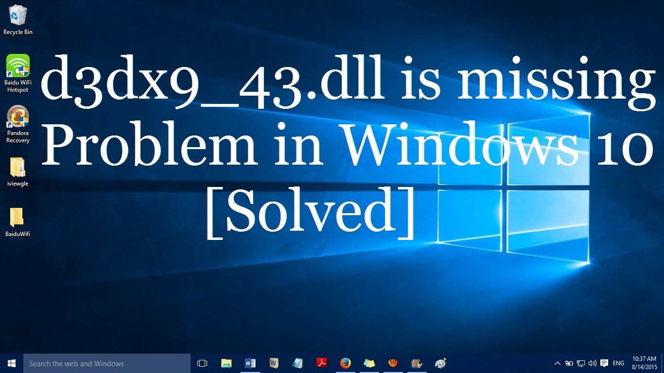 cannot find d3dx9_43 dll