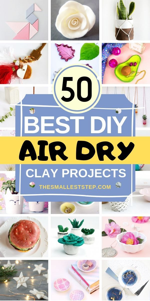 50 DIY Air Dry Clay Projects Youll Love