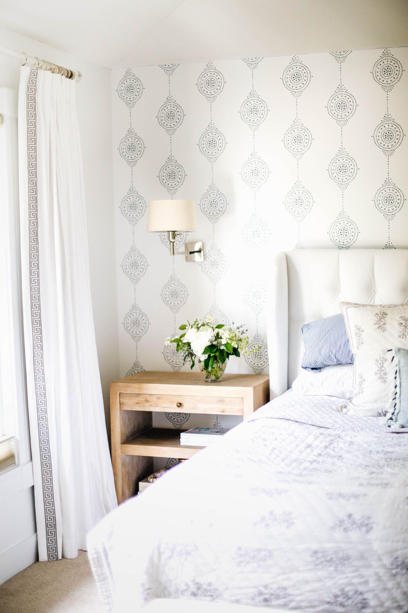 Luna Stripe Wallpaper Wall decor bedroom, Master bedroom