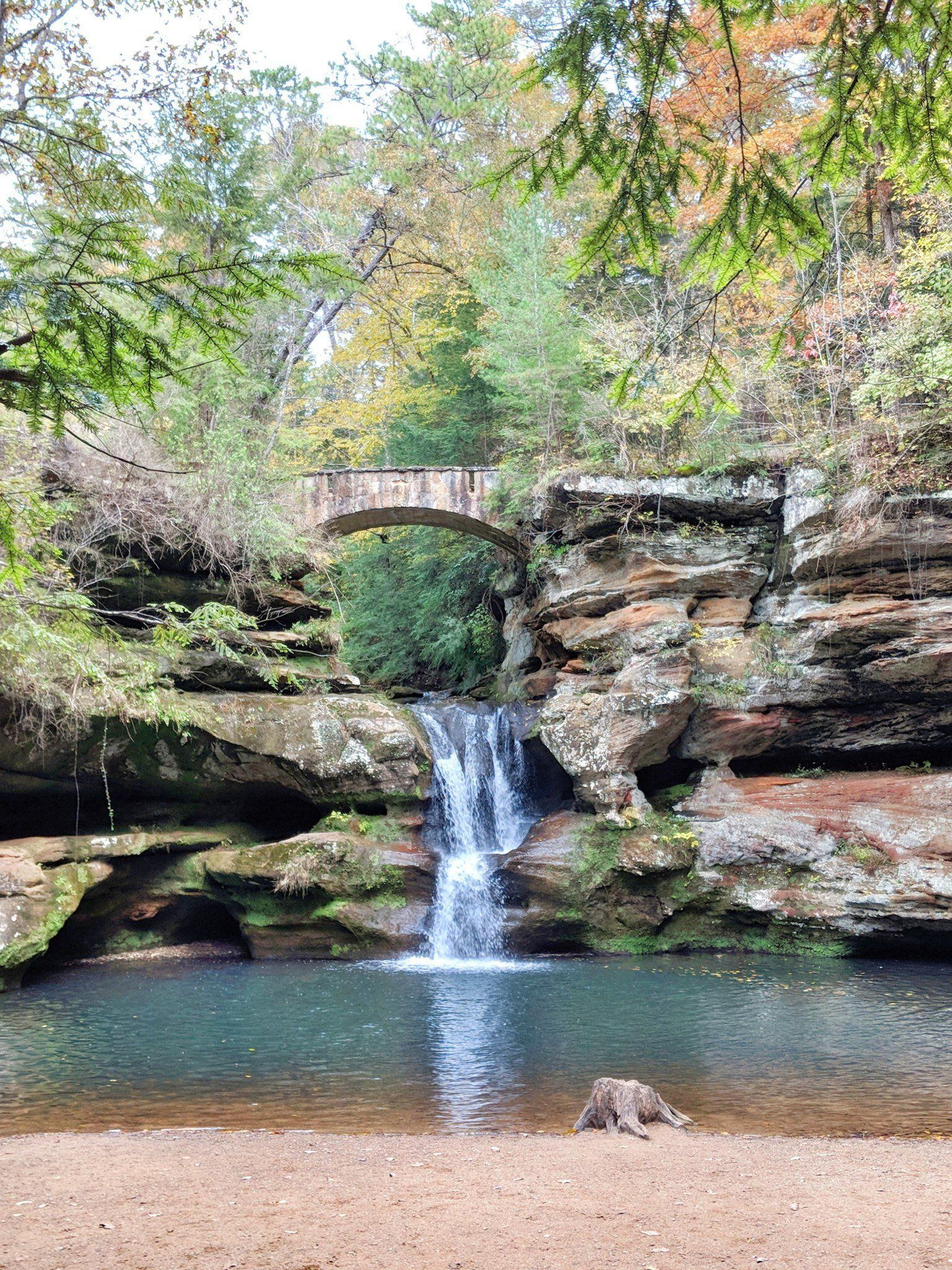 Camping and hiking at hocking hills state park in ohio