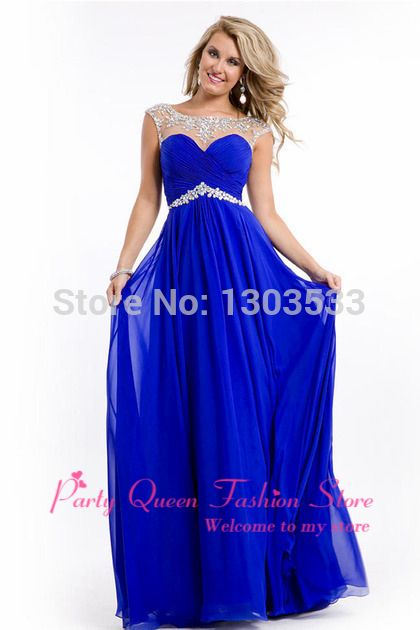 Ravenclaw prom dress Under 50$ Latest Trend New 2014 Evening Gown A ...