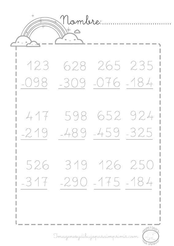 Ejercicios De Restas Math Education Word Search Puzzle