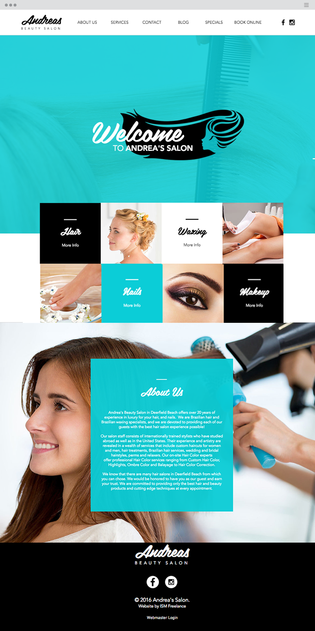 Andrius Wiix Gmail Com.Andrea S Beauty Salon Inspiring Wix Websites
