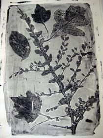 Cassie Stephens: Leafy Spring Prints [would love to try this with agar instead of gelatin]