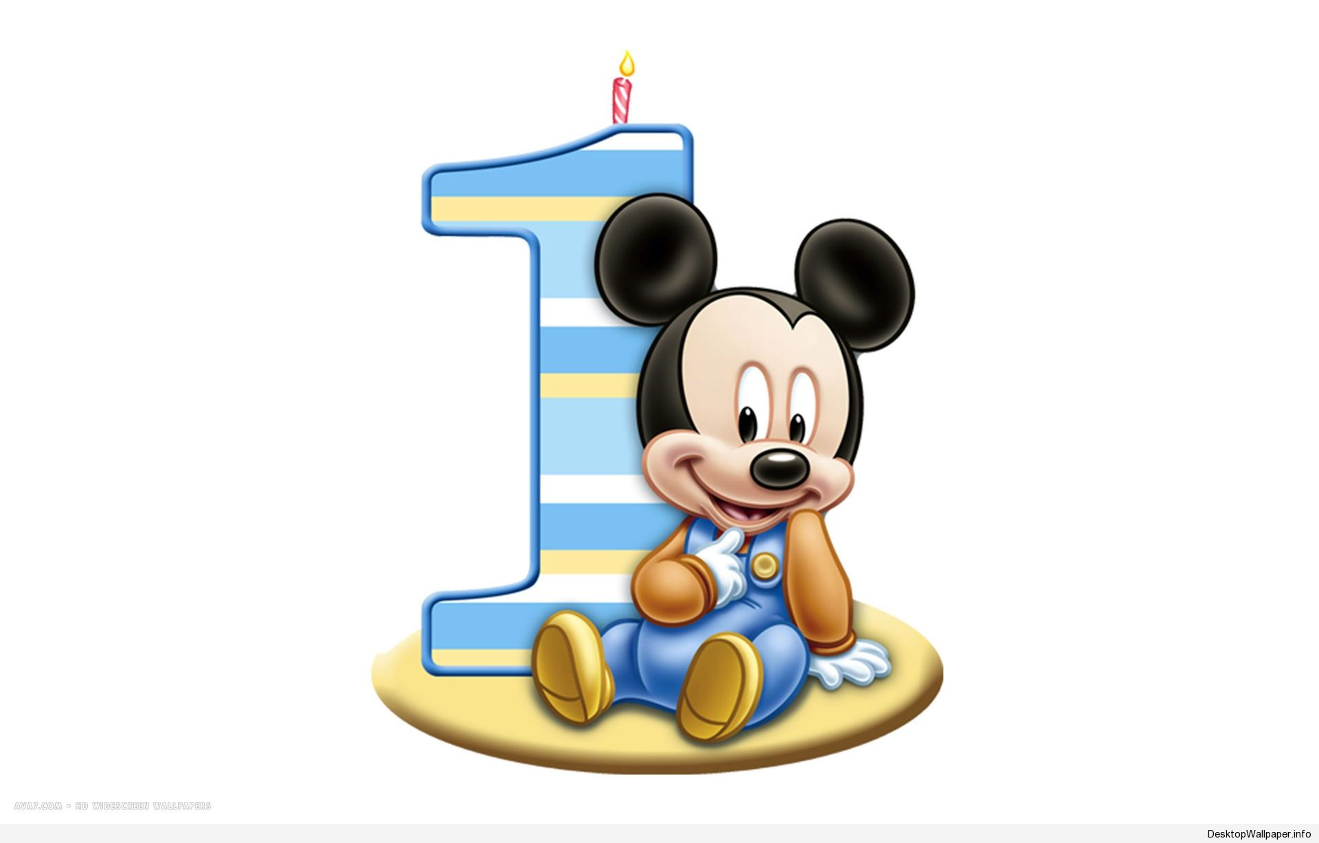 mickey mouse 1st birthday wallpaper http
