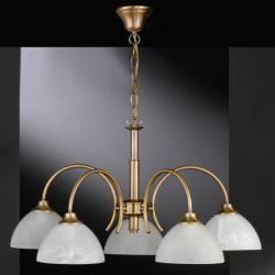 Honsel Classica Corona Latón, 5 bombillas