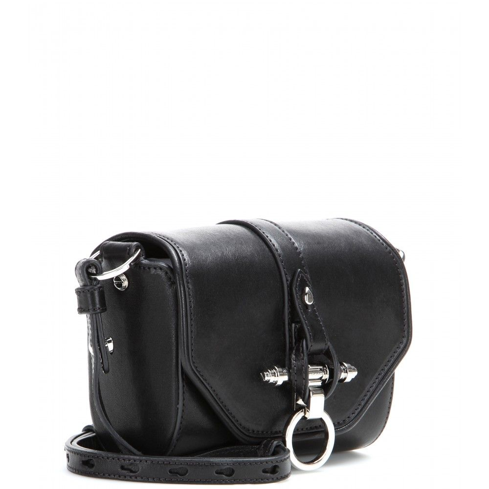 Obsedia Leather Shoulder Bag ✽ 000793 + mytheresa.com