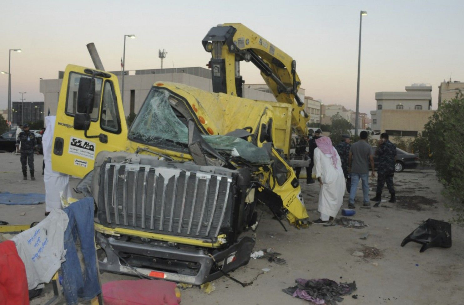 """KUWAIT CITY — American troops deployed in Kuwait who were intentionally rammed by an Egyptian man over the weekend pulled their attacker from his burning vehicle after it caught fire, the U.S. Embassy said Sunday. The embassy described the incident on a Kuwaiti highway Saturday that was initially thought to be a traffic accident as """"an attempted terrorist attack."""" All three uniformed U.S. military personnel in the truck that was struck escaped unharmed, the embassy said. The incapacitated…"""