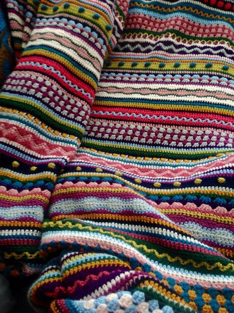 Ravelry: Project Gallery for Mixed Stitch Stripey Blanket pattern by ...
