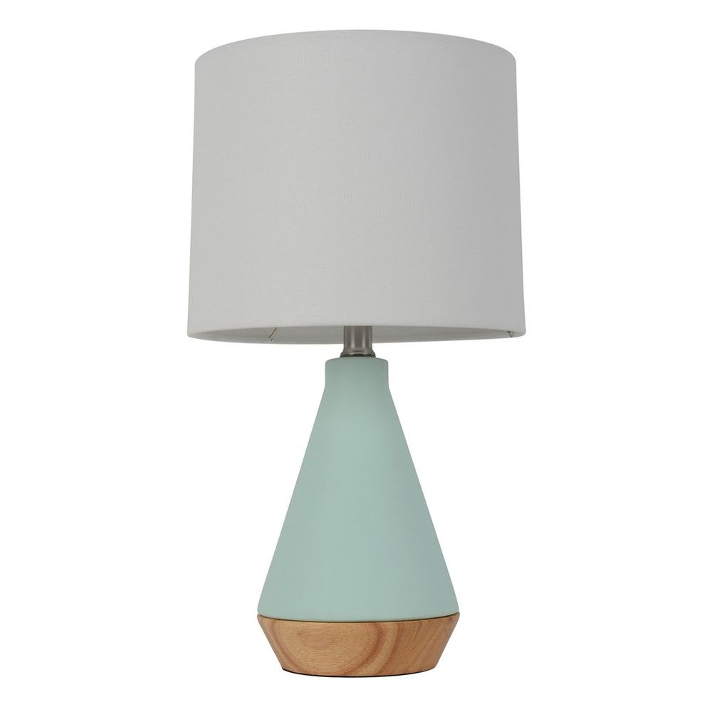 Modern Tapered Ceramic Table Lamp Mint Lamp Only
