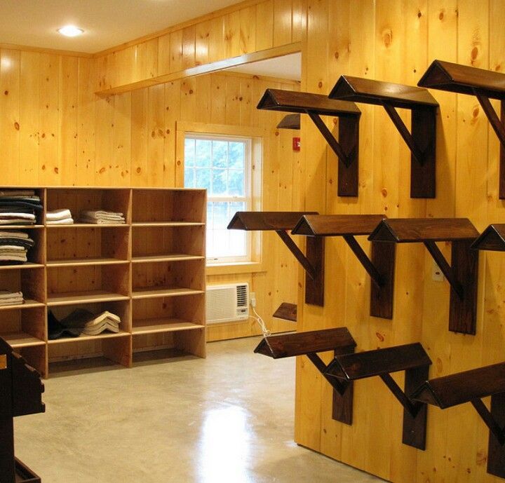 Saddle Wall And Saddle Pad Cubby Of Show Team Tack Room Tack