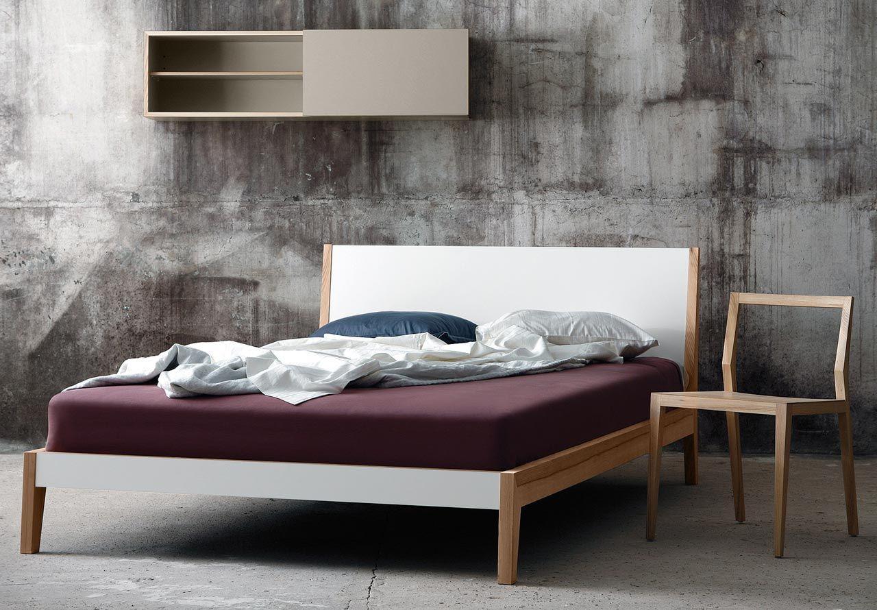 Betten Mento Bett 180 cm schneeweiß/Esche avandeo