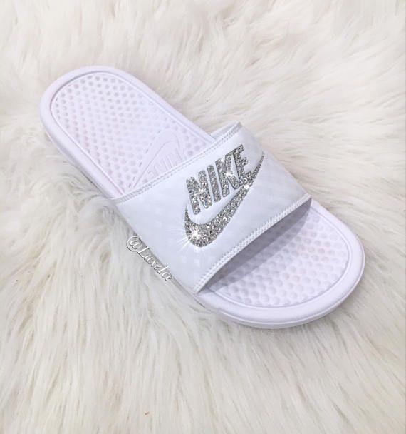 plus tard prix raisonnable plus grand choix de 2019 Swarovski Nike Benassi JDI Slides Sandals customized with ...