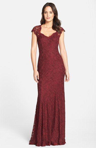 Tadashi Shoji Tadashi \'Auburn\' Corded Lace Gown (Regular & Petite ...