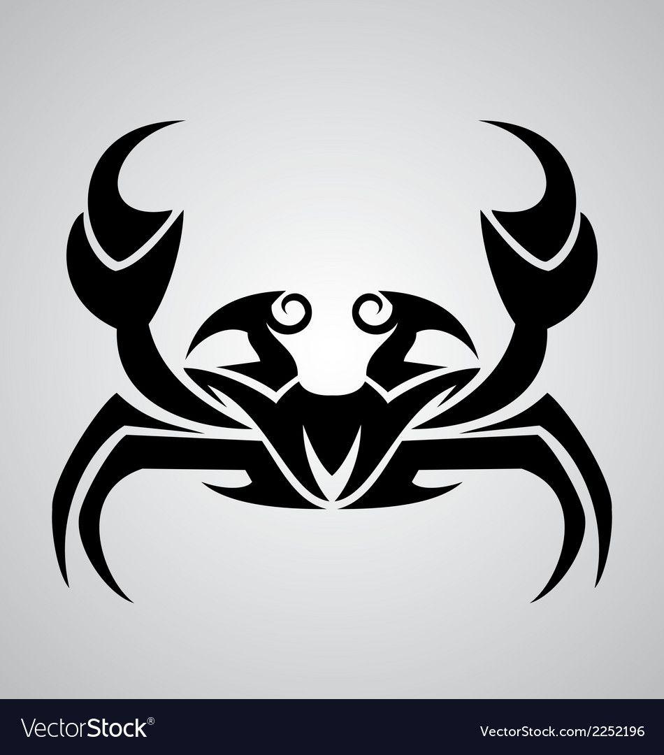 Crab Tattoo Design Vector Image On Vectorstock Crab Tattoo Tattoo Designs Crab Art