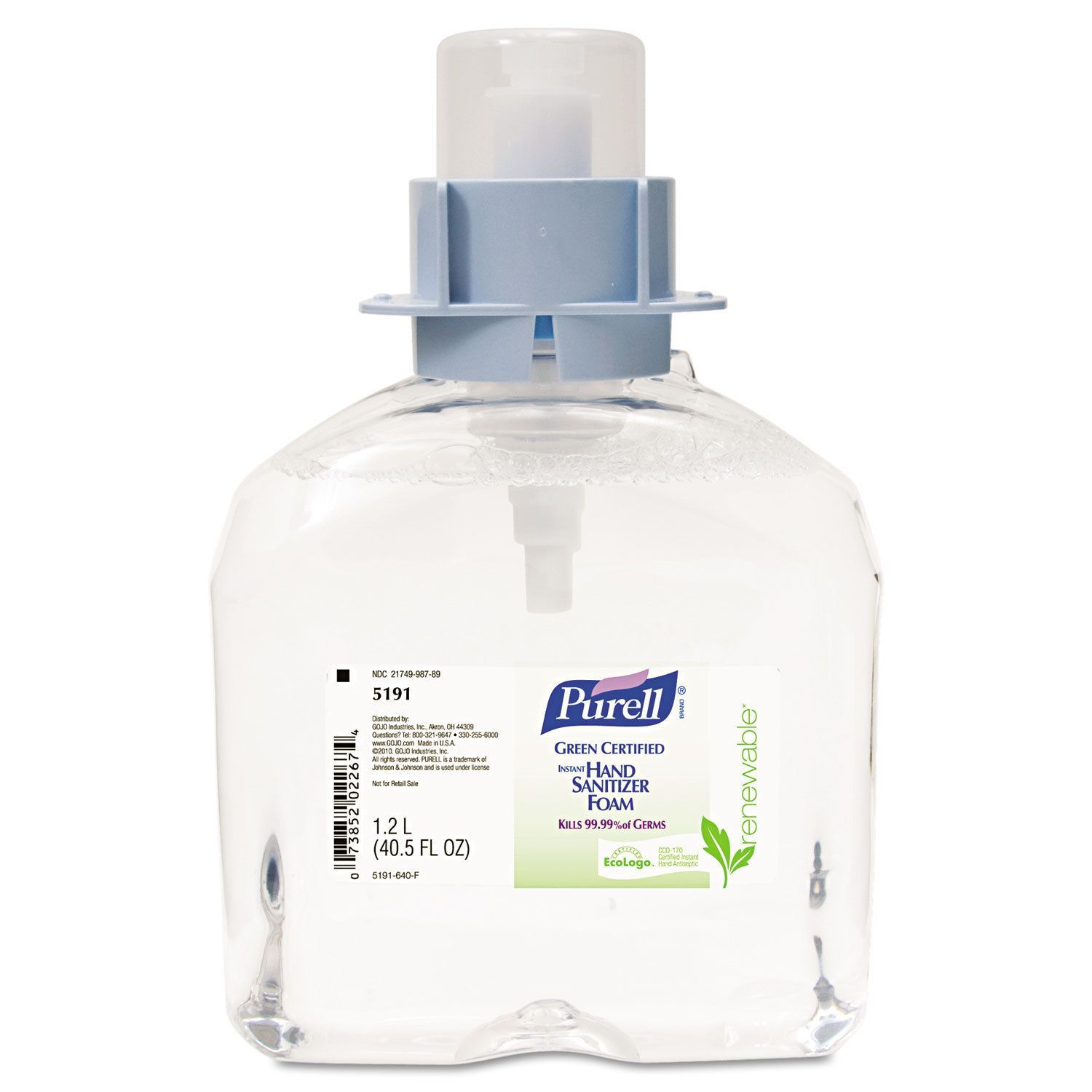 Purell Advanced Green Certified Instant Hand Sanitizer Foam 1200ml