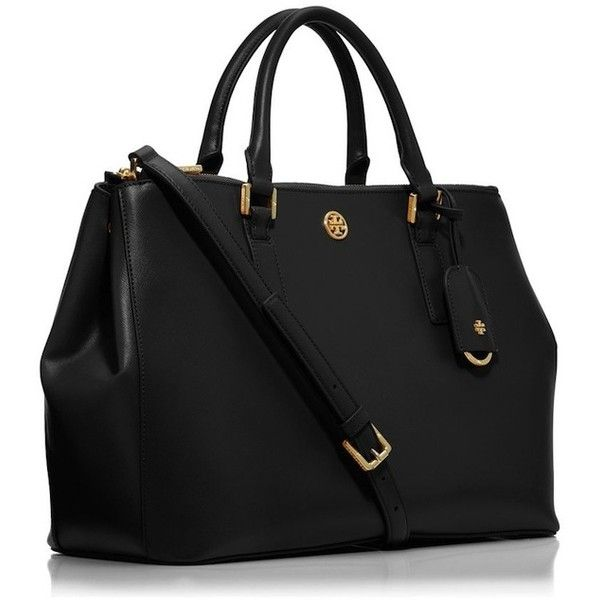 b2ca24a33679 Tory Burch ROBINSON MINI DOUBLE-ZIP TOTE ( 388) ❤ liked on Polyvore  featuring bags