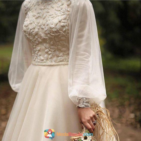 Balon Kol Tesettur Elbise Modelleri Balon Elbise Kol Modelleri Tesettur Modabavulu Muslim Wedding Dresses Dresses Model Dress