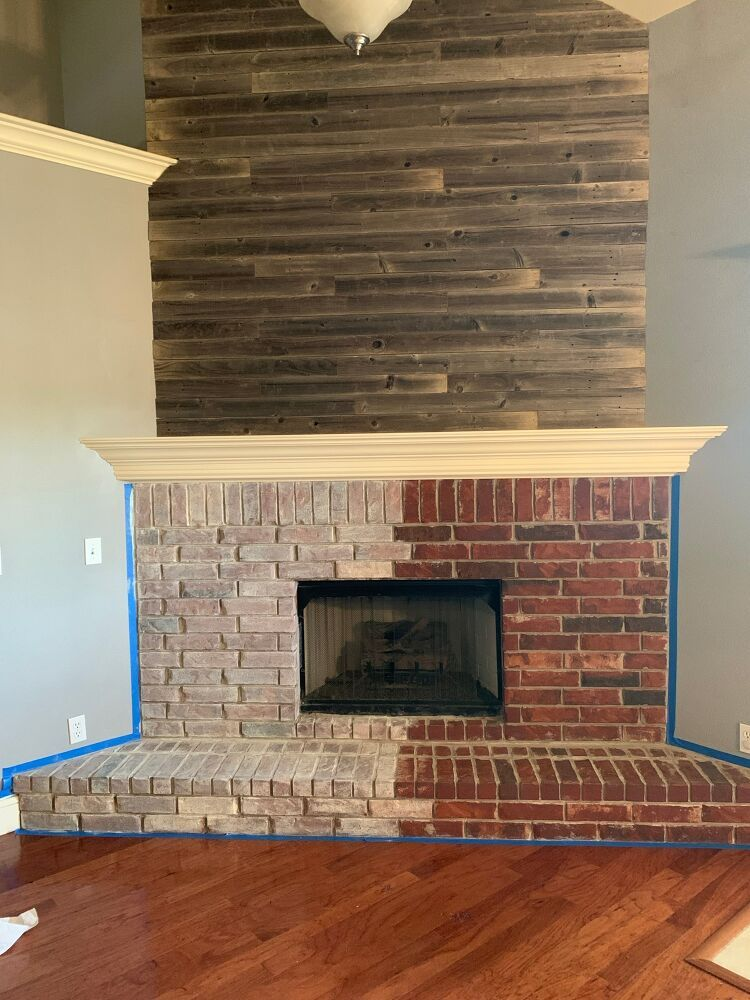 How to Paint a Whitewashed Brick Fireplace DIY