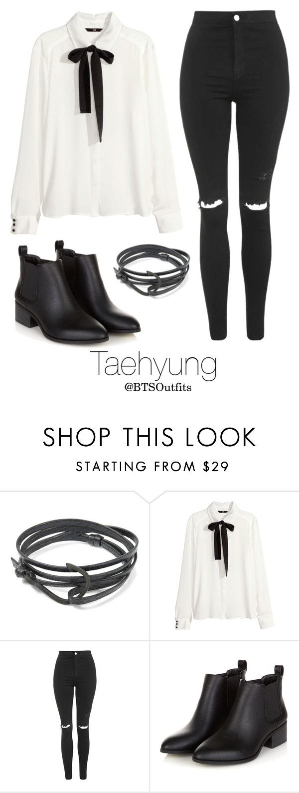 """""""Young Forever Inspired: Taehyung"""" by btsoutfits ❤ liked on Polyvore featuring MIANSAI, H&M and Topshop"""