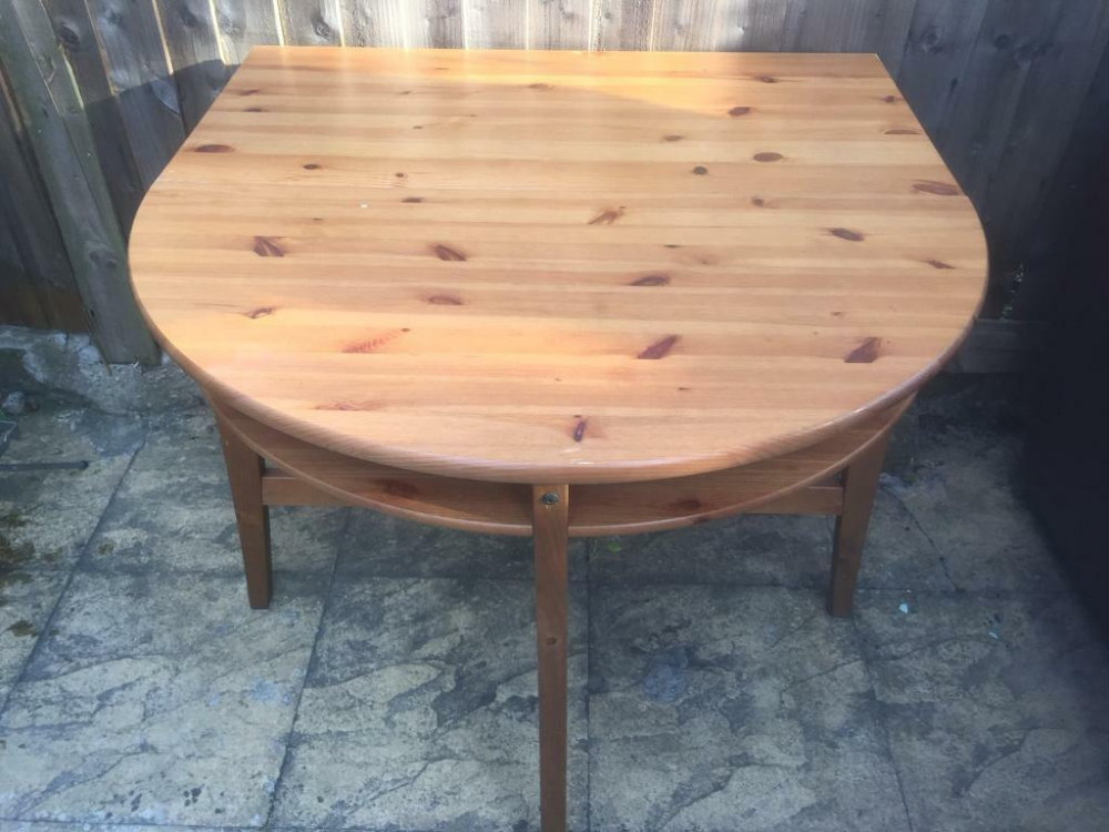 Round Extendable Dining, Half Circle Table Ikea