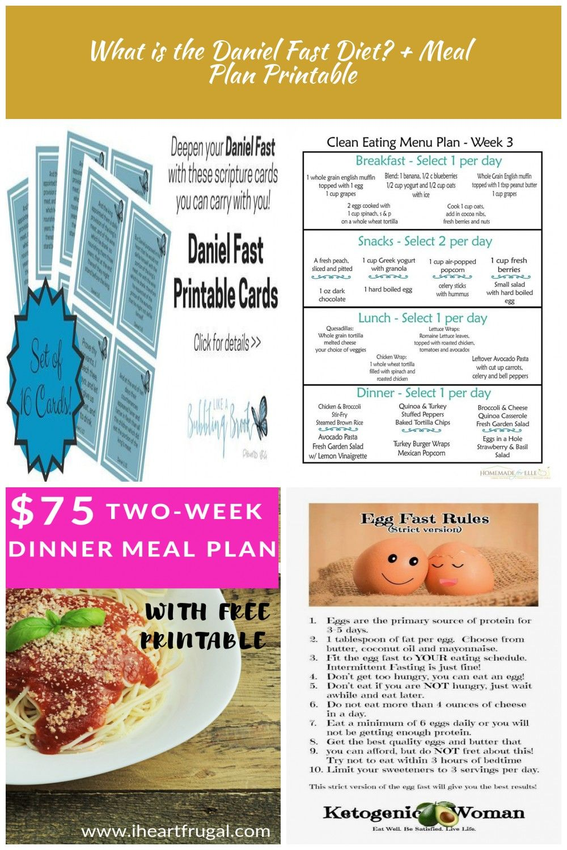 What Is The Daniel Fast Diet Meal Plan Printable Diet Plan