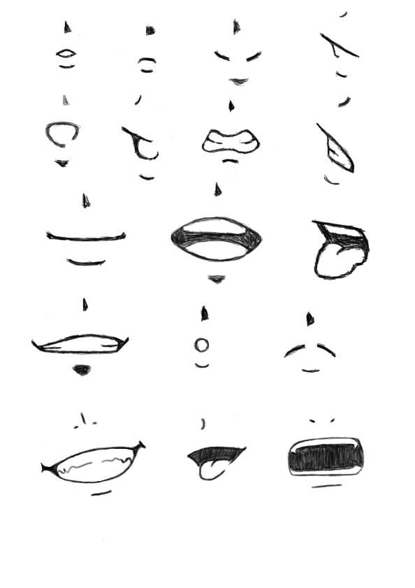 Practice Mouths It Have Female And Male Mouths Together Anime Mouths Anatomy Art Drawing Heads