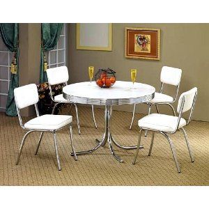 White Retro Dining Table And Chairs For My Kitchen Area Gorgeous Retro Dining Room Tables Design Inspiration